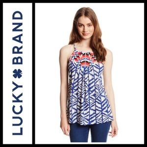 Lucky Brand Embroidered Tahiti Bib Tank